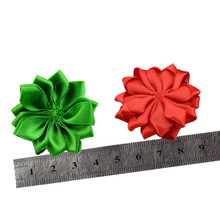 Nishine 16 120pcslot 16 Petaled Rosette Satin Ribbon Flowers Used for Kids Adult Headband Hair Clips Diy Hair Accessories