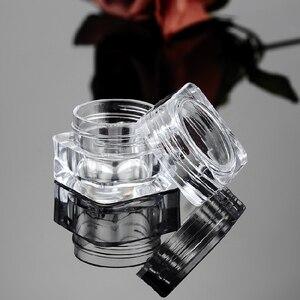 Image 2 - 50 יחידות 5 גרם בקבוק צנצנת ריקה קוסמטיקה פוט צללית קרם פנים מיכל אקריליק עבור מוצרי טיפוח עור קרמים כלי איפור