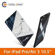 Soft Tablets Case For iPad Pro 10.5 2017 Air 3 2019 Cases Fashion Marble Pattern TPU Protective Cover For iPad Pro/Air 10.5 Case protective marble pattern hard plastic back case for ipad brown