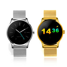 2016 K88H Fashion Smart Watch Circle Touch Screen for Android and IOS Wristwatch Smartwatches Pedometer Watch in Stock