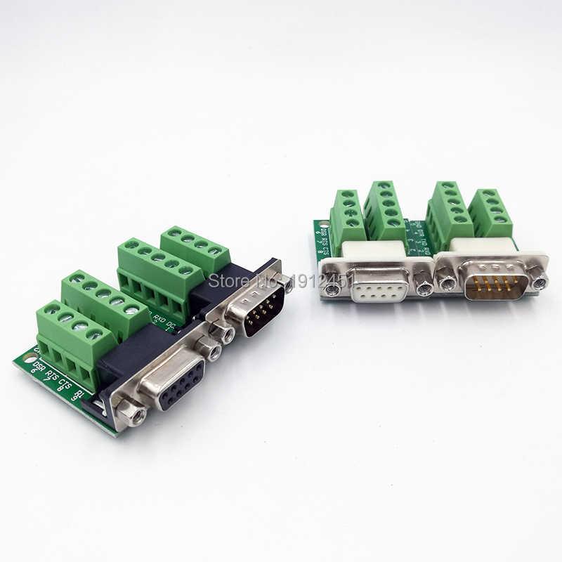 DB9 コネクタ RS232 RS485 COM 信号端子モジュールインタフェース変換アダプタデータ男性女性 D サブ