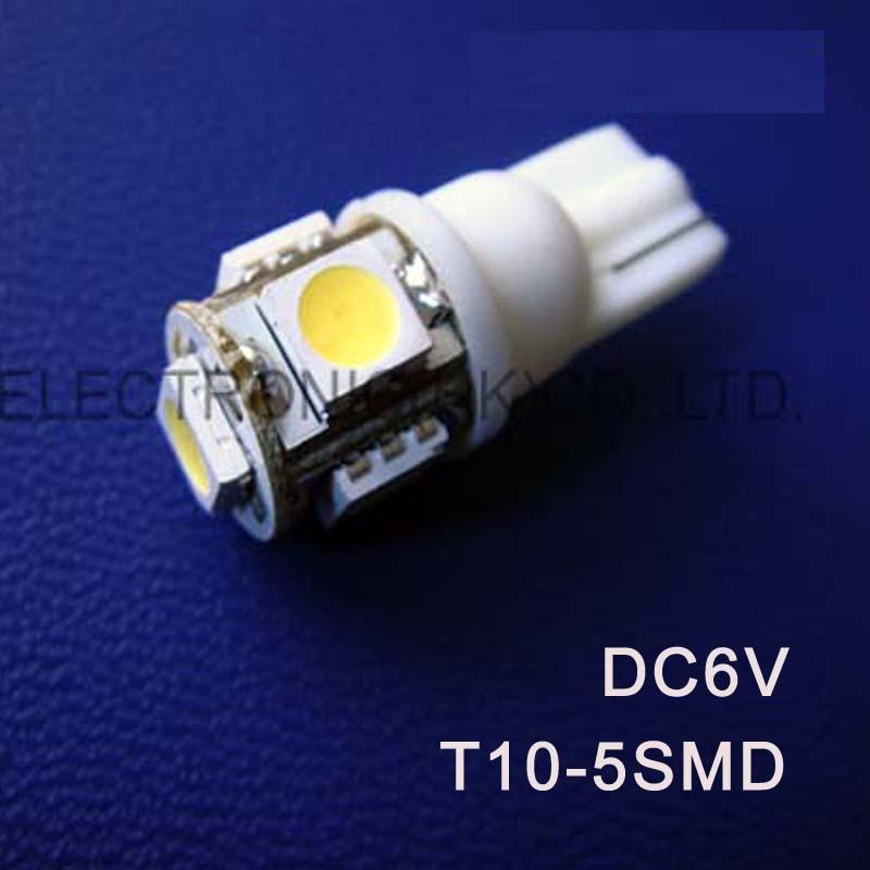 Led Bulbs & Tubes High Quality Dc6v 6.3v T10 W5w 194 168 Led Warning Signal,pilot Lamps,indicator Lights,instrument Lamps Free Shipping 100pcs/lot Light Bulbs