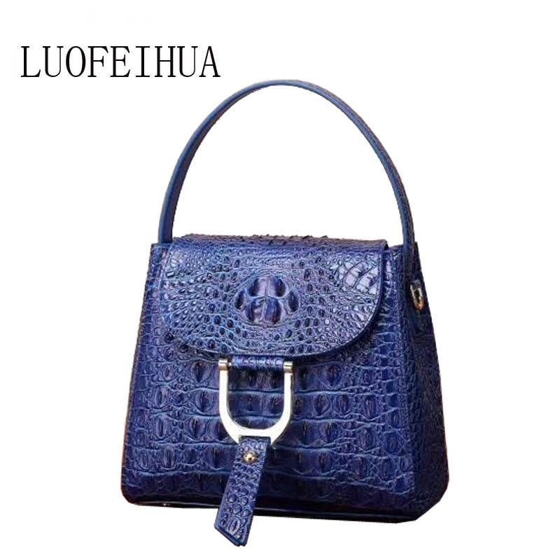 Main 2019 Sac En Luxe Designer black Véritable Modèle blue Marque Purple Sacs Pour De À Nouvelle Cuir Crocodile Femmes Les xeWCoBrd