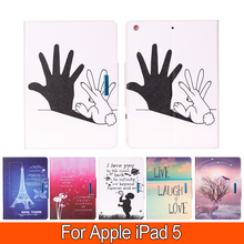 Printing Colours Circumstances For Apple iPad 5 iPad Air Sensible PU Leather-based Pill Case Stand Flip Card Slot Cowl Pill Equipment