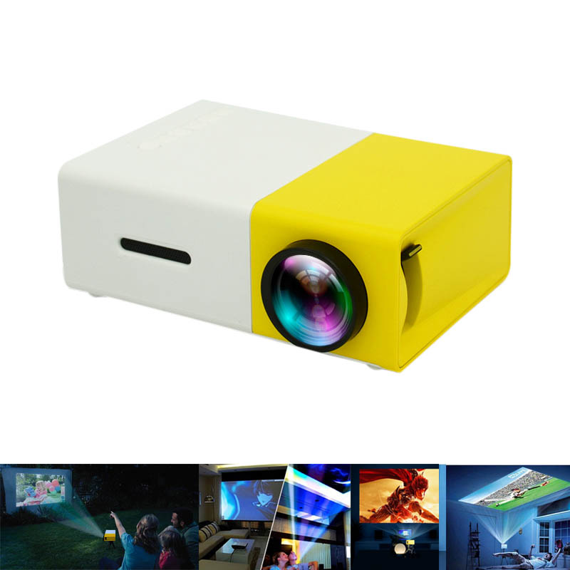 Portable Projector HD 1080P LCD PC Laptop Media Player YG-300 USB Home Theater For Video/Movie/Game XXM8 portable mini projector home cinema digital smart led projectors support 1080p movie pc video game can use mobile power supply