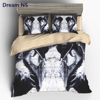 AHSNME Michael Jackson Bedding Sets Cool Singer Printed US AU King Queen Size Adult Duvet Cover Set Cozy Bedroom Textile