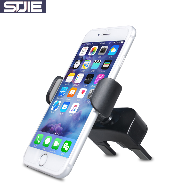 STJIE universal for iphone holder car air vent and CD slot mobil holder  auto for smartphone cellphone telephone-in Mobile Phone Holders   Stands  from ... 953c5ea5b65