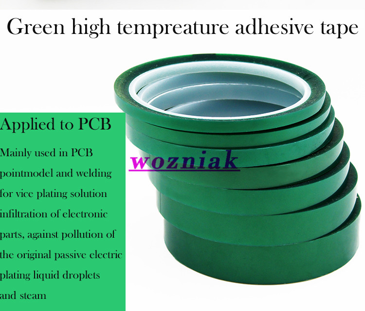 wozniak PET green high temperature tape heat resistant tape Spray ...