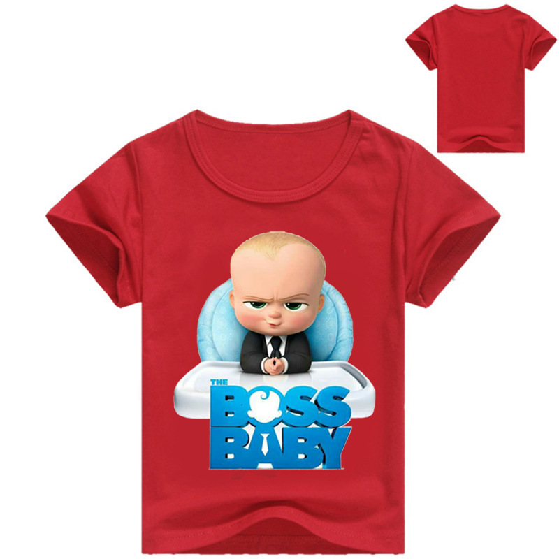 9c1886bab723 The Boss Baby Cartoon Boys Shorts T Shirt New Summer Children Kids Tops  Tees T Shirts Baby Boy s Clothing Cotton Clothes T011-in T-Shirts from  Mother   Kids ...