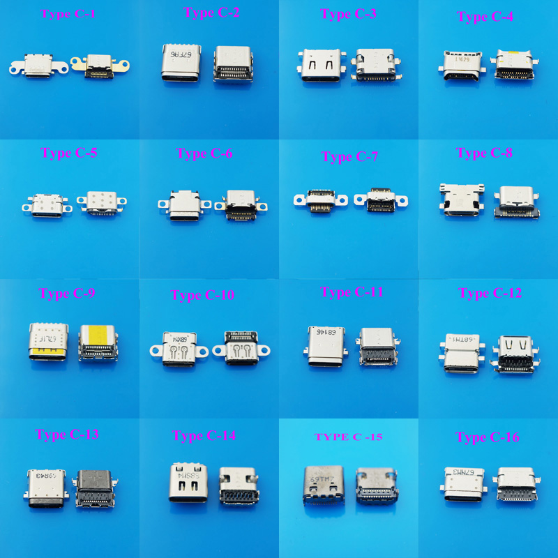 5pcs/lot 18Model USB 3.1 Type C Connector Female Tab USB 3.1 Version Socket receptacle for HUAWEI MEIZU LeTV Xiaomi usb charging smart home gold light wall touch switch ac220v crystal glass panel uk standard 1 gang 2 way led touch switch power touch led