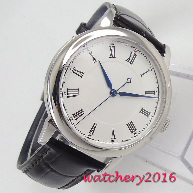 Fashion 40mm Corgeut sterile white dial No Logo watches men fashion watch 2018 Luxury Brand miyota Automatic Movement mens Watch