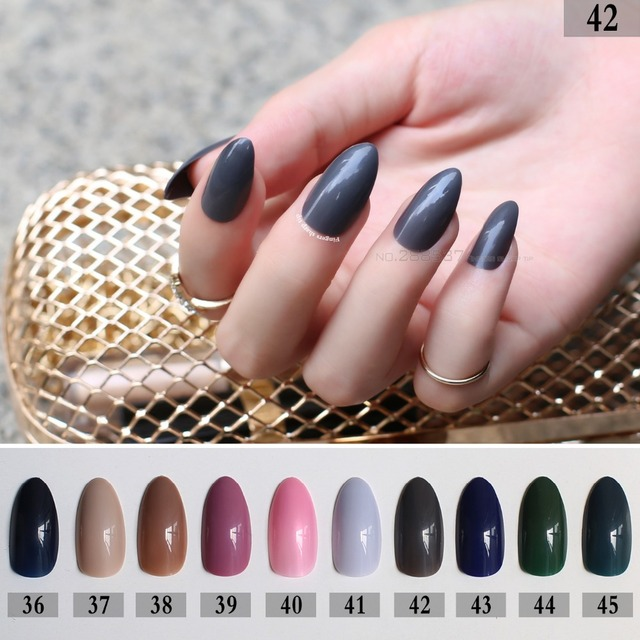 Pink Full Nail Tips Khaki nails Blue Pointed Stiletto green 24pcs mountain  peak Designs purple Brown - Aliexpress.com : Buy Pink Full Nail Tips Khaki Nails Blue Pointed