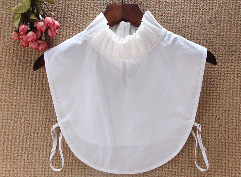 2019 New Korean White Black Sweater Blouse Shirt Fake False Collar Female Cotton Removable Detachable Collars For Women Kraagjes