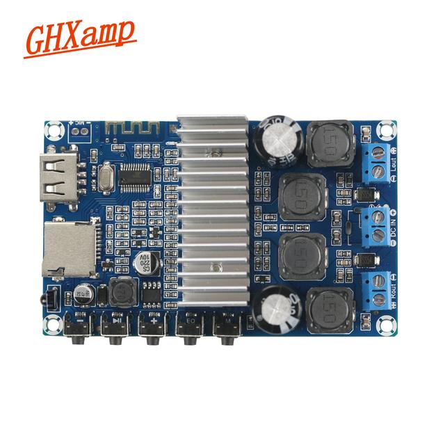 GHXAMP TPA3116D2 Bluetooth Amplifier Board 50W*2 Bluetooth 4.2 Speaker Receive Board FM Radio USB Decoder WMA MP3 EQ Calls