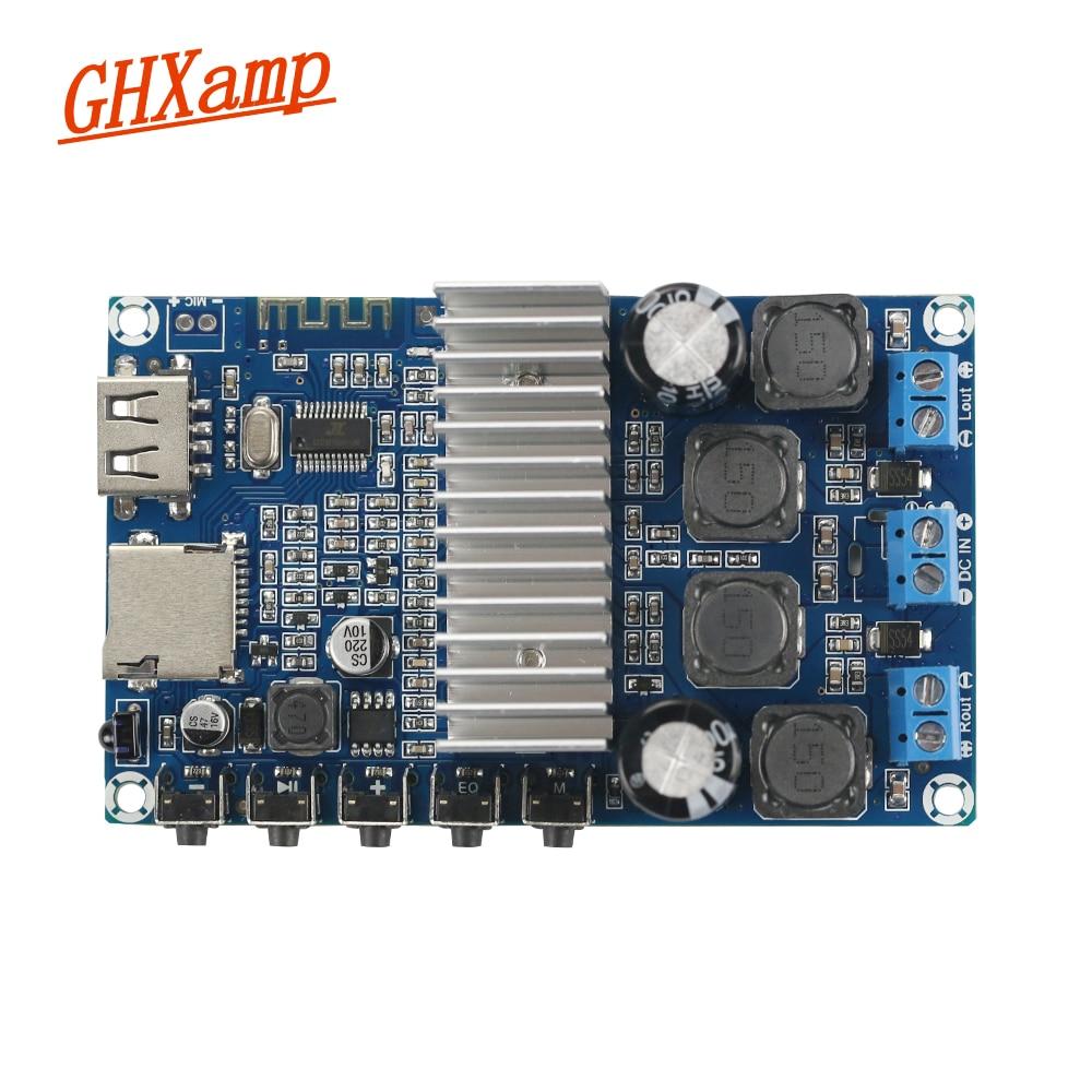 GHXAMP TPA3116D2 Bluetooth amplificador de 50 W * 2 Bluetooth 4,2 altavoz recibir Junta USB FM de Radio decodificador WMA MP3 EQ llamadas