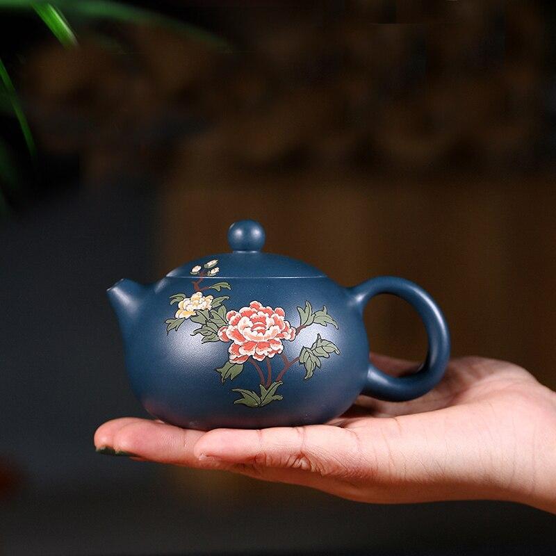 220 мл Исин Аутентичные фиолетовый глина Чай горшок известный ручной сырья руды Zisha xishi горшок Винтаж цветок Зелёный чай чайник друг подарки