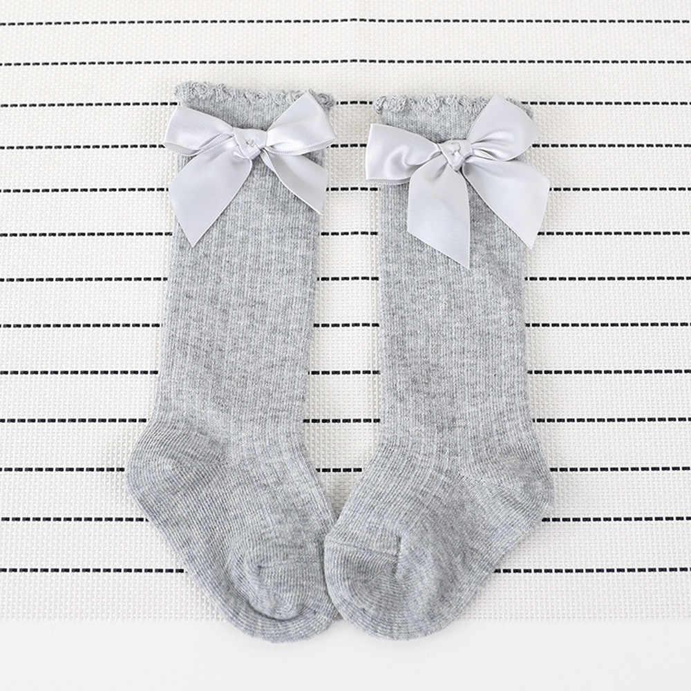Meisjes Sokken Kinderen Sokken Peuters Meisjes Grote Boog Knie Hoge Lange Zachte Katoen Kant Baby Sokken Kids Kniekousen Meisje Dropshipping 482