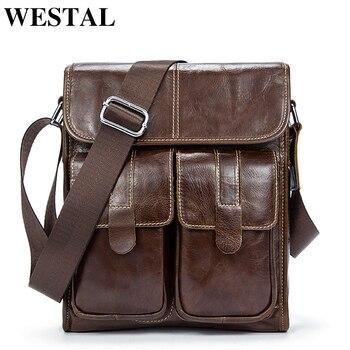 3b7c40f664c6 WESTAL сумки мужские через плечо мужская сумка из натуральной кожи кожаная  сумка мужская через плечо вертикальная