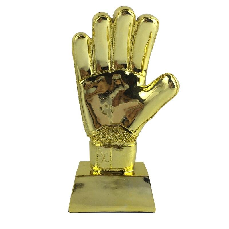 Souvenirs de Fans de gardien de but de Football de trophée d'or de gant 9.4 pouces de taille matériel de résine