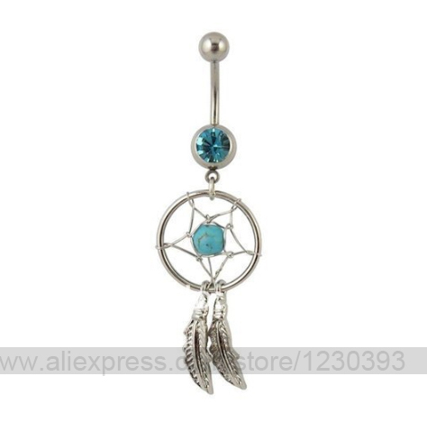 Belly Piercing Septum Nose Ring Fashion Gift Mixed 40 Colors Dream Extraordinary Dream Catcher Nose Ring