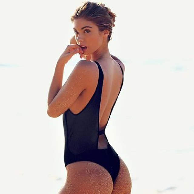 3766992055d50 Thong One Piece Swimwear Women 2018 Front Zipper Sexy Black Monokini  Swimsuits High Cut Outs Bathing