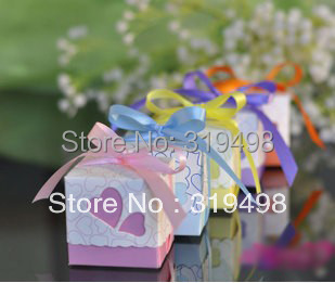 Free Shipping(100 pcs/lot)  Wholesale DIY Euro-style Paper Wedding Candy Bift Box Wedding Christmas Decoration box