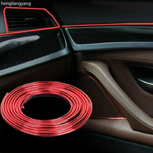 Pvc diy universal suv sed n hatchback coche interior molduras tira decorativa para la decoraci n - Decoracion interior coche ...