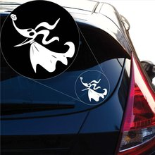 Nightmare Before Christmas Zero Decal Sticker for Car Window, Laptop and More. # 1052 (4 X 4.3, White)