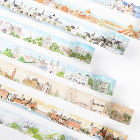 Travelling Around The World Washi Tape Decorative Adhesive Tape DIY Scrapbooking Sticker Label Craft Masking Tape