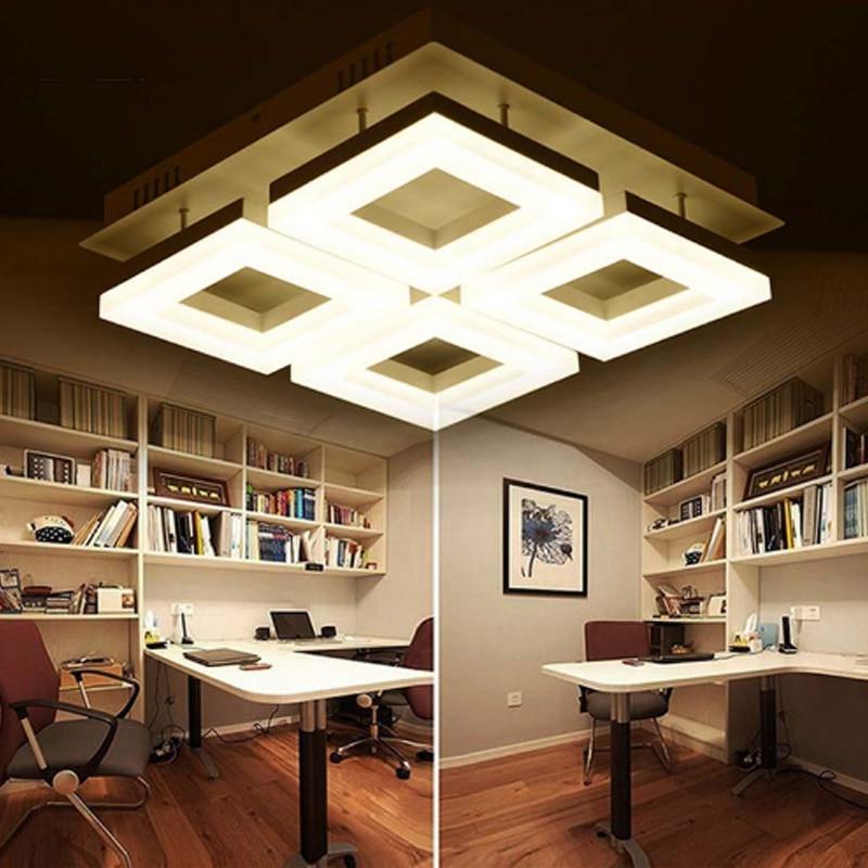 Modern Led Living Room Lamp Rectangular Atmosphere Romantic Warm Ceiling Bedroom Restaurant Lamps