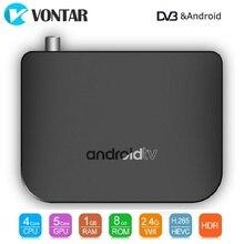 Mecool M8S más DVB Dispositivo de TV inteligente 1GB/8GB DVB T2 S2 decodificador Android 7,1 terrestre Combo TVBOX DVBT2 4K Amlogic S905D Quad Core