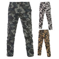 New 2016 Spring Men's Fashion Casual Printed Cotton Cargo Pants Camouflage Long Pants, Male large size multi-pocket overalls