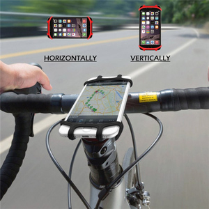 Mountain Bike Mount Universal Bicycle Mobile Phone Holder Adjustable Silicone Handlebar Stand For xiaomi redmi note 8 pro oneplu(China)