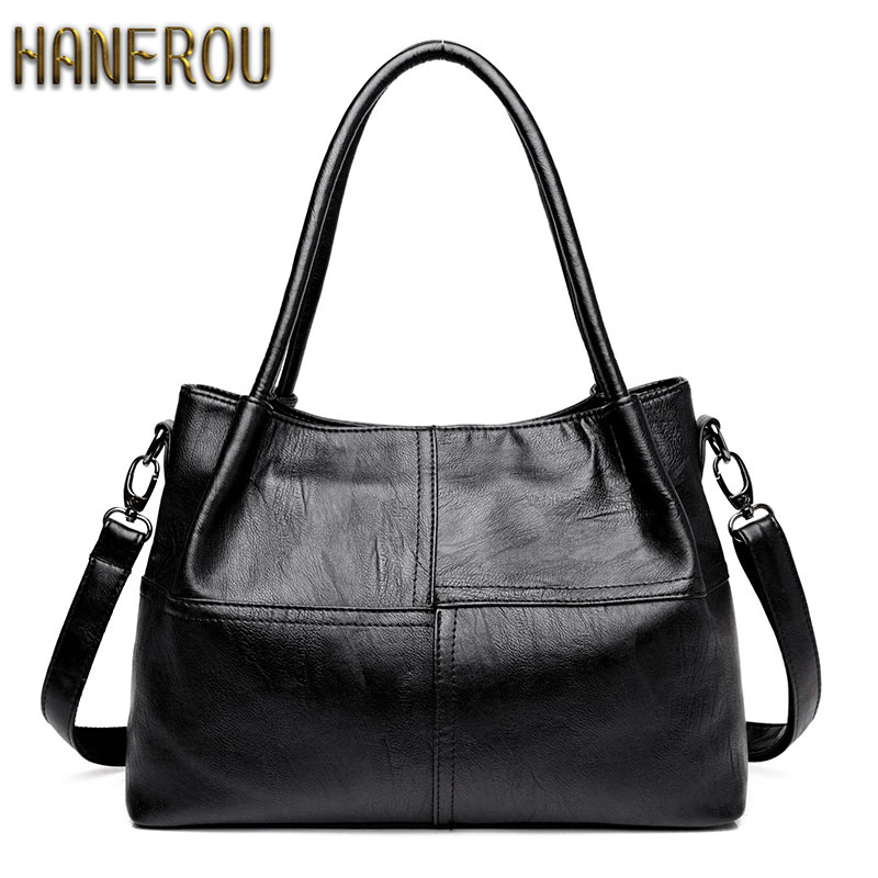Famous Brand Ladies Hand Bags PU Leather Women Bag Casual Tote Shoulder Bags 2018 Sac New Fashion Luxury Handbags Large Tote Bag women casual bow striped tote bags brand designer pu leather handbags large shoulder bag luxury ladies crossbody messenger bags