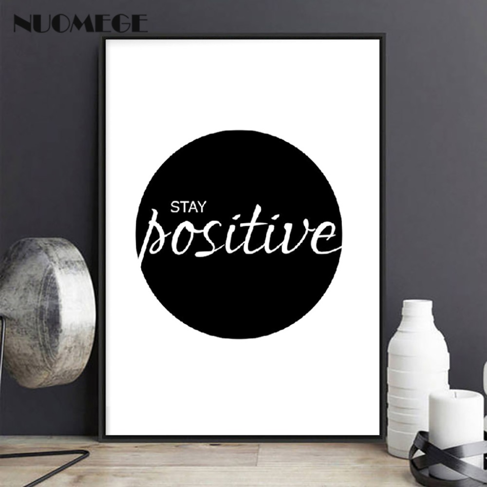 English Inspirational Quotes Smile Poster Prints Black White Wall