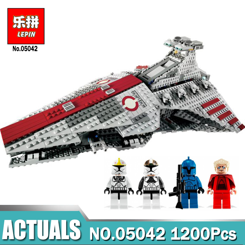 New Lepin 05042 Star Series Wars The Republic Fighting Cruiser Set Building Blocks Toys for Children Compatible LegoINGlys 8039 new lepin 16009 1151pcs queen anne s revenge pirates of the caribbean building blocks set compatible legoed with 4195 children