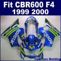 7 подарки мотоциклетные уличные гонки инъекции обтекателя комплекты для Honda CBR600 F4 1999 2000 CBR600F CBR 99 00 600 F4 синий fairngs комплект
