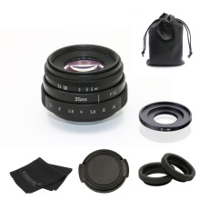 FUJIAN 35mm f1.6 C mount CCTV camera Lens II +C mount to N1adapter ring+ For Nikon1 цена и фото