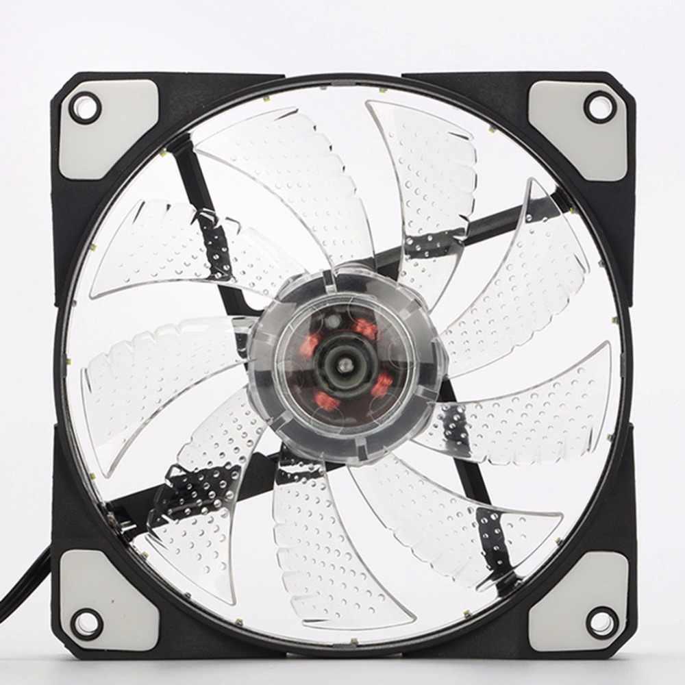 Оригинальный 15 огней светодиодный бесшумный вентилятор ПК корпус корпуса вентилятора радиатора охлаждающий вентилятор DC 12 V 4 P 3 P 120*120*25 мм Горячая продажа