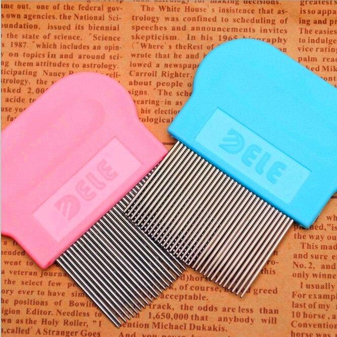 Pink Blue Plastic Steel Nail Mini Pet Grooming Products Flea Comb