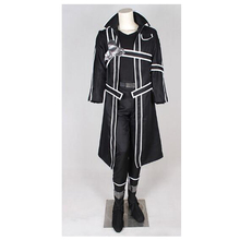 Custom Made Men's Outfit Sword Art Online Kirigaya Kazuto Kirito Costume Cosplay for Halloween Carnival