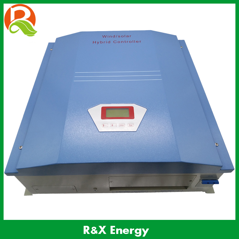 1000W battery charge controller, wind/solar hybrid controller 24/48V, for 1kw wind generator and 300w solar panel, high quality