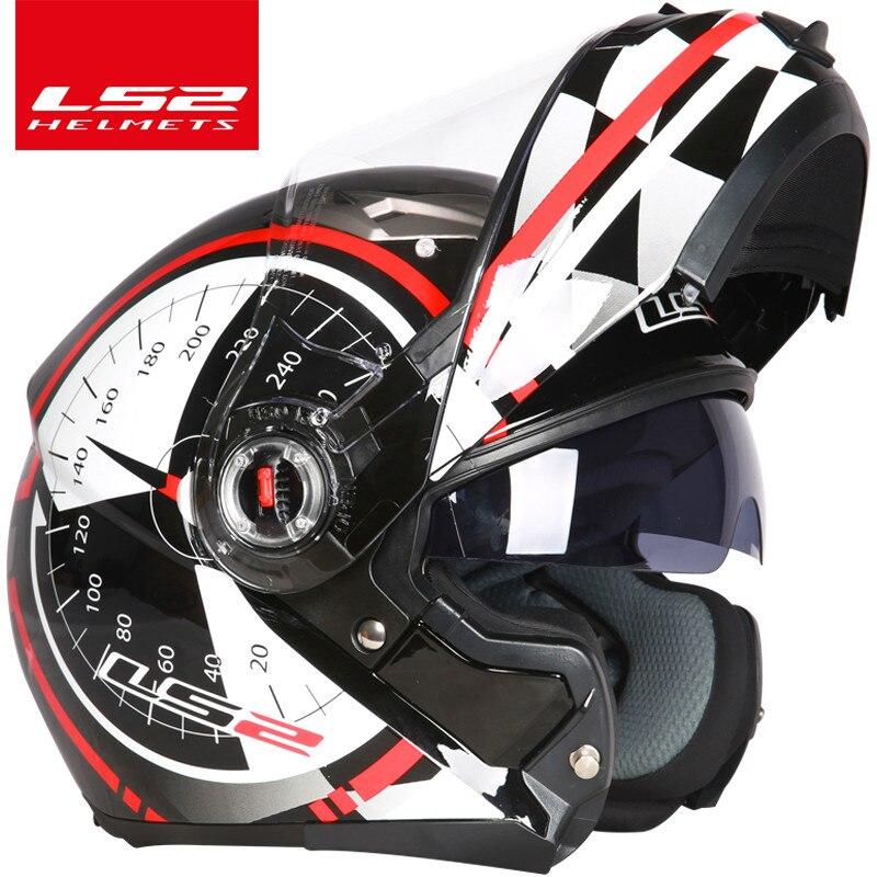 Image 4 - LS2 FF370 flip up motorcycle helmet dual shield with inner sunny lens modular moto racing helmets ECE certification casque moto-in Helmets from Automobiles & Motorcycles