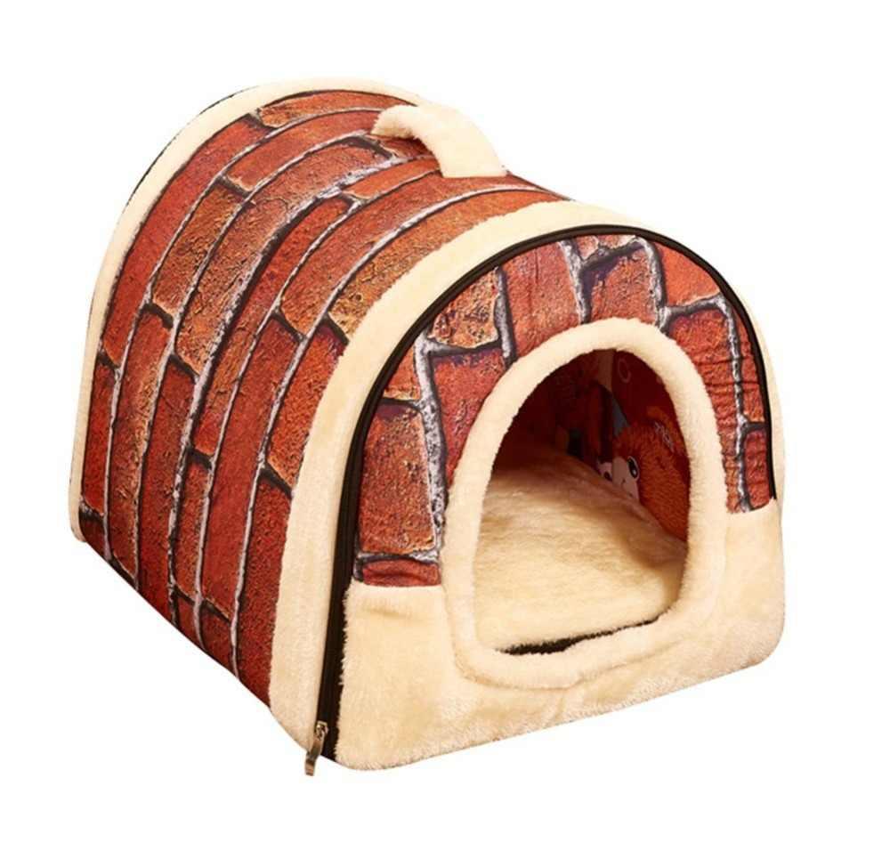 Портативный мягкими стенками Pet Дом Плюшевые подложив Крытый небольшой собаки или кошки кровать