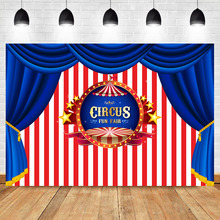 NeoBack Circus Birthday Backdrop Tent Carnival Photography Backdrops Stripe Curtain Party Decor Photo Background
