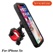 Soporte de montaje para manillar de bicicleta o motocicleta, soporte de bolsa para teléfono móvil con funda a prueba de golpes, soporte de protección para Iphone Xr/Xs Max