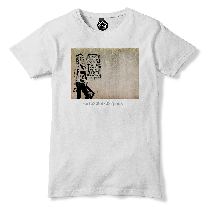 Banksy T-Shirt Stop and Search Mens Graffiti Street Art Top