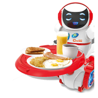 New the intelligent voice control Mini robot toy Interactive toys Feeding Waiter robot kids love Flashing and sounding toys