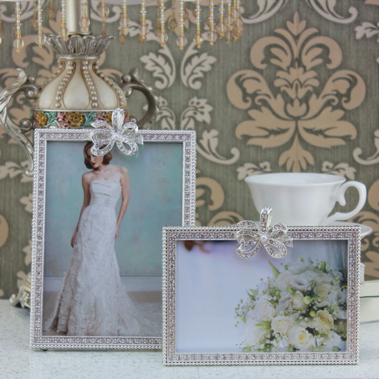 pcset rectangle white foto butterfly photo framepicture