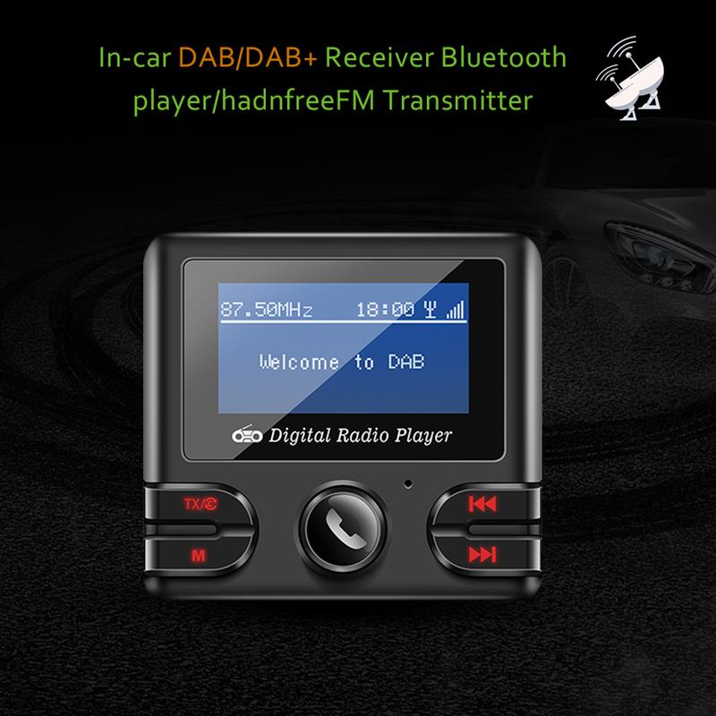 DAB Receiver Bluetooth 4 2 FM Transmitter Car Kit Music Player Modulator  Dual USB 2 1A Charger Support TF with Antenna